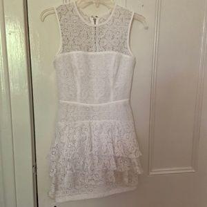 White Lace Bebe Dress